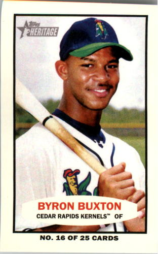 Photo of 2013 Topps Heritage Minors 1964 Bazooka #BB Byron Buxton -- Twins post-season