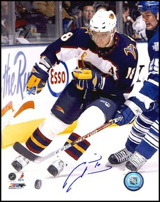 MARIAN HOSSA Atlanta Thrashers SIGNED 8x10 Photo