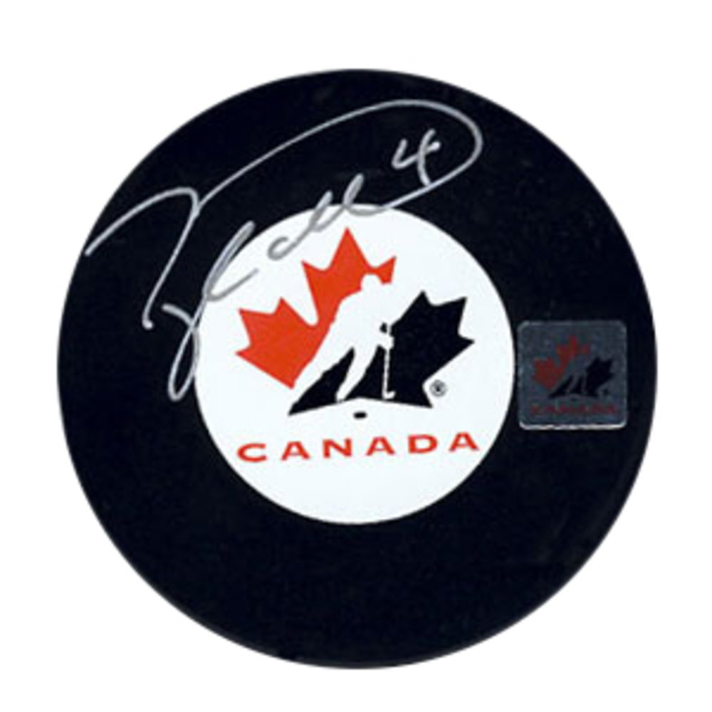 Taylor Hall - Signed Team Canada Puck