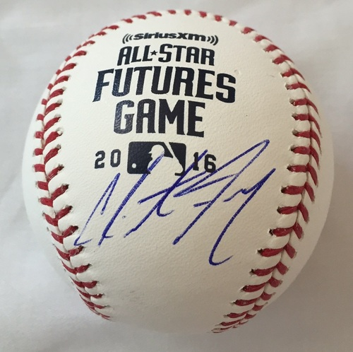 Photo of Clint Frazier Autographed 2016 Futures Baseball