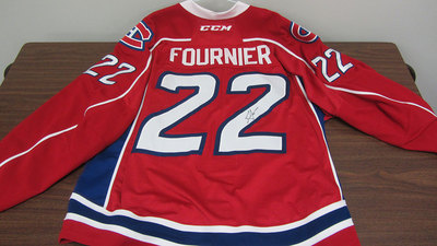 AHL RED GAME ISSUED STEFAN FOURNIER JERSEY SIGNED (1 OF 2)