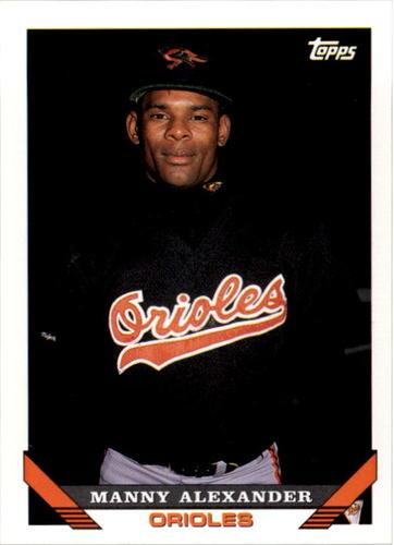 Photo of 1993 Topps #587 Manny Alexander