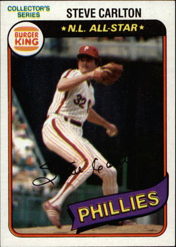 Photo of 1980 Burger King Pitch/Hit/Run #2 Steve Carlton
