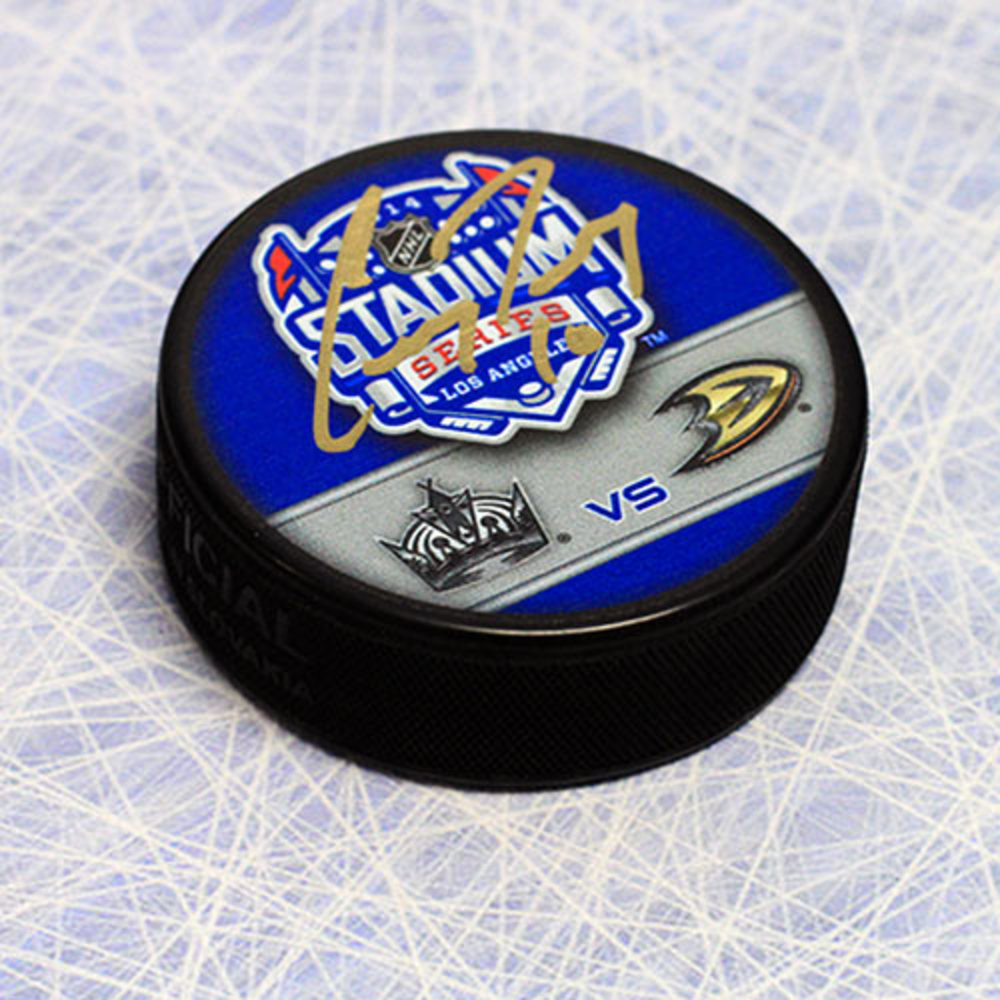Corey Perry Anaheim Ducks Autographed Stadium Series Puck