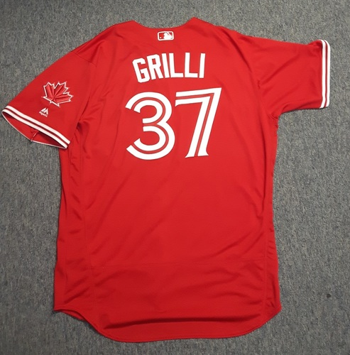 Photo of Authenticated Team Issued Jersey - #37 Jason Grilli (2017 Season). Size 50