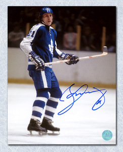 Borje Salming Toronto Maple Leafs Autographed Rookie 8x10 Photo