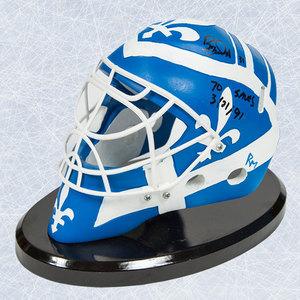 Ron Tugnutt Quebec Nordiques Autographed Mini Mask