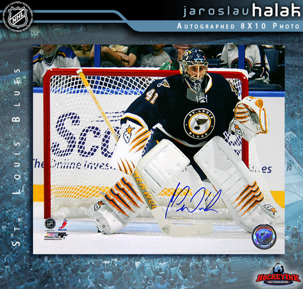 JAROSLAV HALAK Signed St. Louis Blues 8 X 10 Photo - 70474