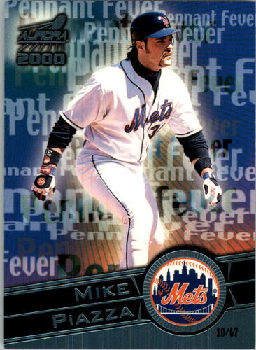 Photo of 2000 Aurora Pennant Fever Platinum Blue #11 Mike Piazza