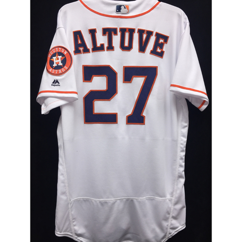Photo of Team-Issued 2016 Jose Altuve Home White Jersey