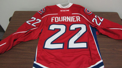 AHL RED GAME ISSUED STEFAN FOURNIER JERSEY SIGNED (2 OF 2)