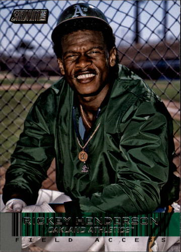 Photo of 2014 Stadium Club Field Access #FA12 Rickey Henderson