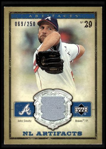 Photo of 2006 Artifacts AL/NL Artifacts Blue #JSN John Smoltz Jsy/250