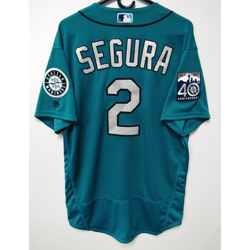 Photo of Jean Segura Green Game-Used 40th Anniversary Jersey May 19, 2017 Size 46