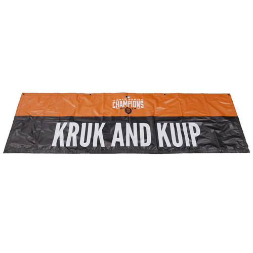 Photo of San Francisco Giants - 2014 World Series Parade Banner - Kruk and Kuip