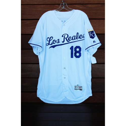 Photo of Game-Used Rusty Kuntz Los Reales Jersey (Size 48 - TOR at KC - 6/24/17)