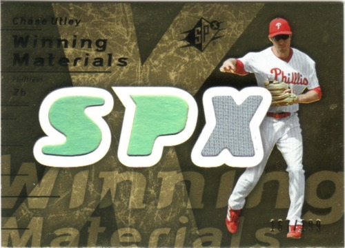 Photo of 2007 SPx Winning Materials 199 Gold #CU Chase Utley/199