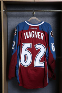 Chris Wagner Colorado Avalanche Game Worn Burgundy Jersey