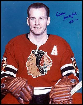ED SANDFORD Chicago Blackhawks SIGNED 8x10 Photo