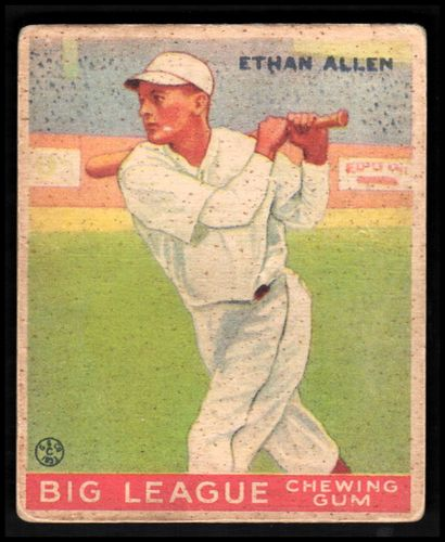 Photo of 1933 Goudey #46 Ethan Allen RC Rookie Card VG