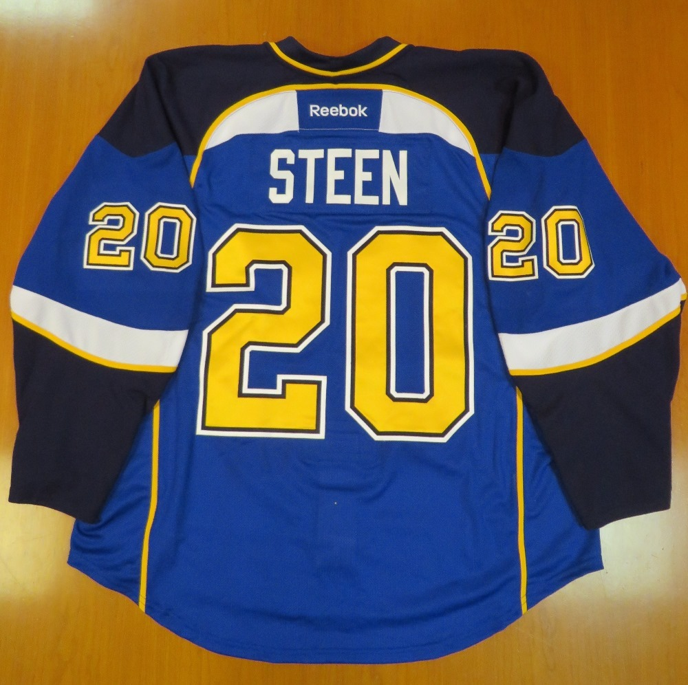 Alexander Steen autographed game-worn jersey