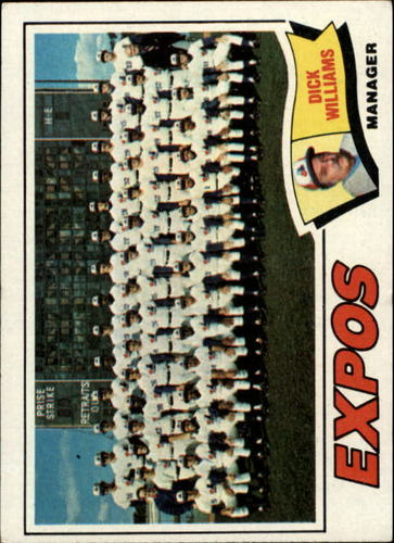 Photo of 1977 Topps #647 Montreal Expos CL/Dick Williams MG