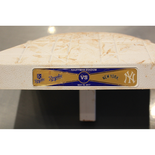 Photo of Game-Used 2nd Base Innings 1-5 (5/18/17 NYY at KC) (Moustakas HR Bot 5)