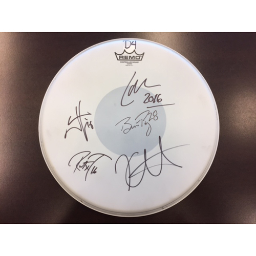 Photo of Giants Metallica Auction: Posey & Metallica Signed Drum Head