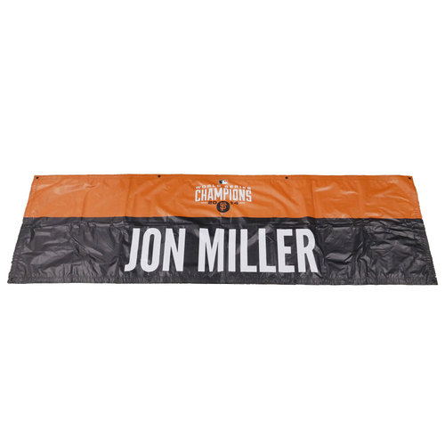 Photo of San Francisco Giants - 2014 World Series Parade Banner - Jon Miller