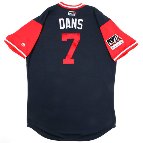 """Photo of Dansby """"Dans"""" Swanson Atlanta Braves Game-Used Players Weekend Jersey"""