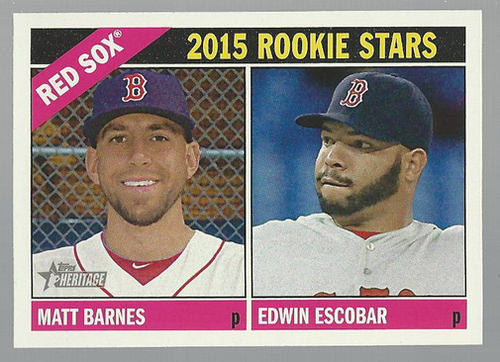 Photo of 2015 Topps Heritage #44 Edwin Escobar RC/Matt Barnes RC