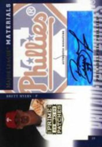 Photo of 2005 Prime Patches Major League Materials Autograph #19 Brett Myers T5