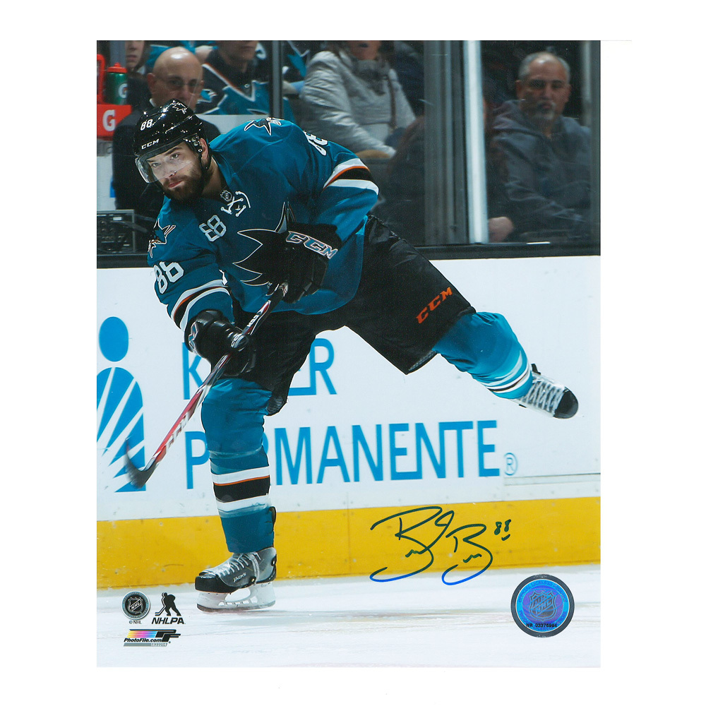 BRENT BURNS Signed San Jose Sharks 8 X 10 Photo - 70175