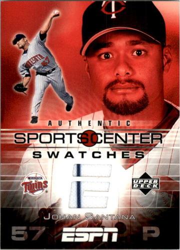 Photo of 2005 Upper Deck ESPN Sports Center Swatches #SA Johan Santana