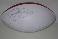 PANTHERS - JONATHAN STEWART SIGNED PANEL BALL (LIGHT SIGNATURE)