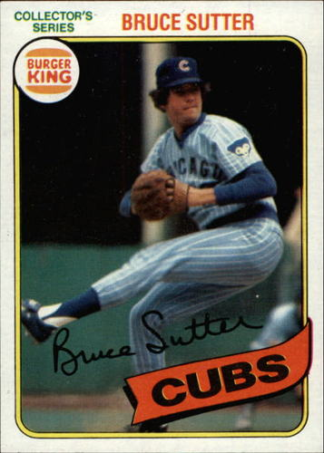 Photo of 1980 Burger King Pitch/Hit/Run #11 Bruce Sutter