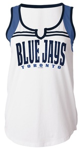 Toronto Blue Jays Women's Baby Jersey Notch V-Neck Tank by 5th & Ocean