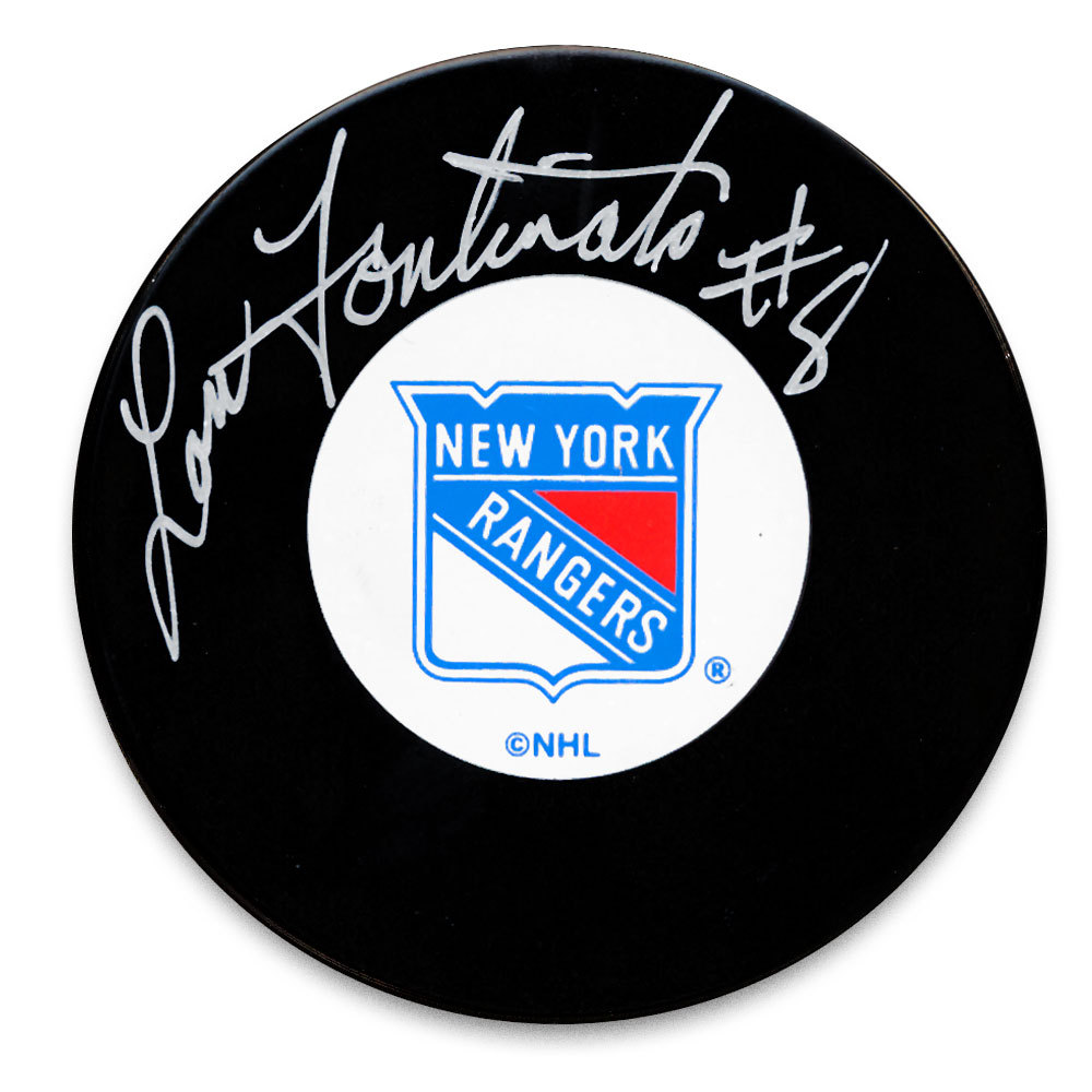 Lou Fontinato New York Rangers Autographed Puck