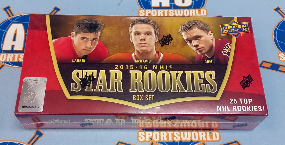 2015-16 UD Star Rookies 25 Card Factory Sealed Box Set - *Possible Autographed Cards* *McDavid, Larkin, Domi cards, etc*
