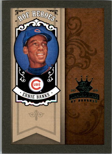 Photo of 2005 Diamond Kings HOF Heroes Framed Green #56 Ernie Banks