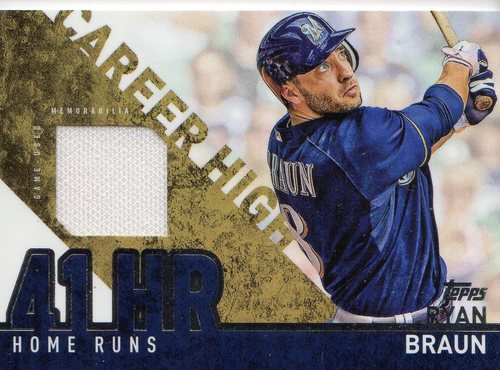 Photo of 2015 Topps Career High Relics #CHRRB Ryan Braun S2