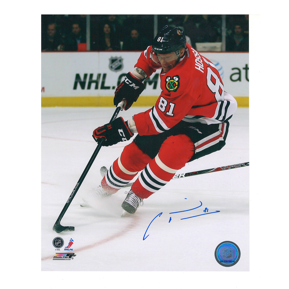 MARIAN HOSSA Signed Chicago Blackhawks 8 X 10 Photo - 70237