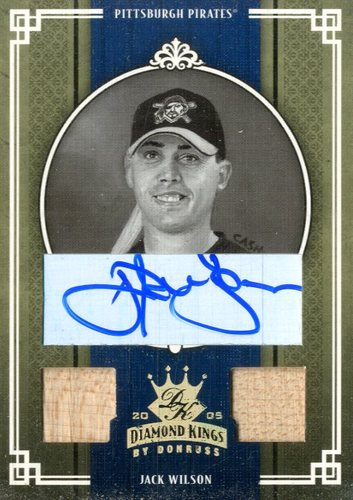 Photo of 2005 Diamond Kings Signature Gold B/W #180 Jack Wilson/25