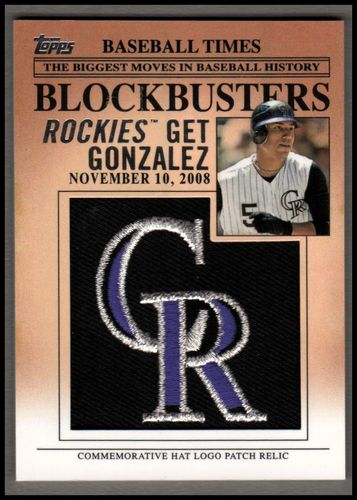 Photo of 2012 Topps Update Blockbusters Commemorative Hat Logo Patch #BP27 Carlos Gonzalez