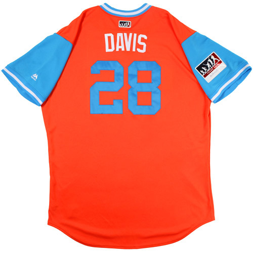 "Photo of J.D. ""Davis"" Davis Houston Astros Game-Used Players Weekend Jersey"