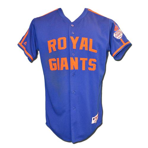 Curtis Granderson #3 - Game Used Royal Giants Jersey - Granderson Goes 1-4 - Mets vs. Braves - 6/25/16