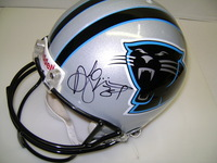 PANTHERS - DEANGELO WILLIAMS SIGNED PANTHERS PROLINE HELMET