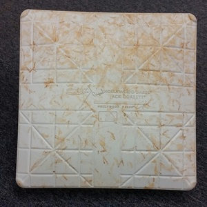 Authenticated Game-Used 2nd Base from August 3, 2015 vs Minnesota Twins. David Price's Blue Jays debut and 1st win. - used for innings 1-5