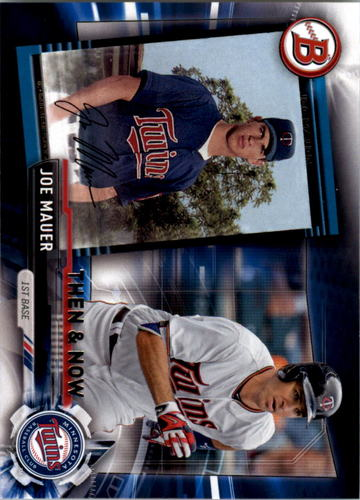 Photo of 2017 Topps Bowman Then and Now #BOWMAN9 Joe Mauer