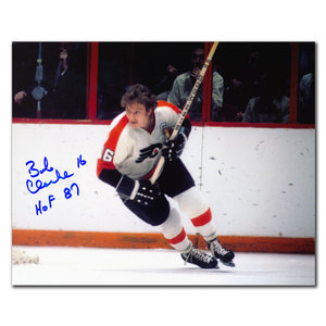 Bobby Clarke Philadelphia Flyers HOF Autographed 8x10